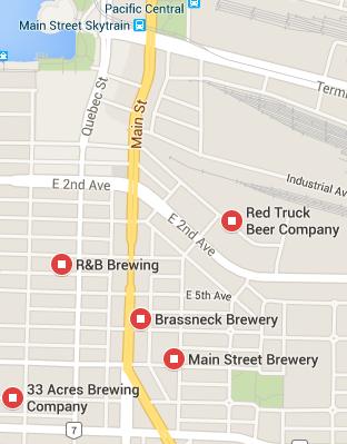 Main Street Beer Map